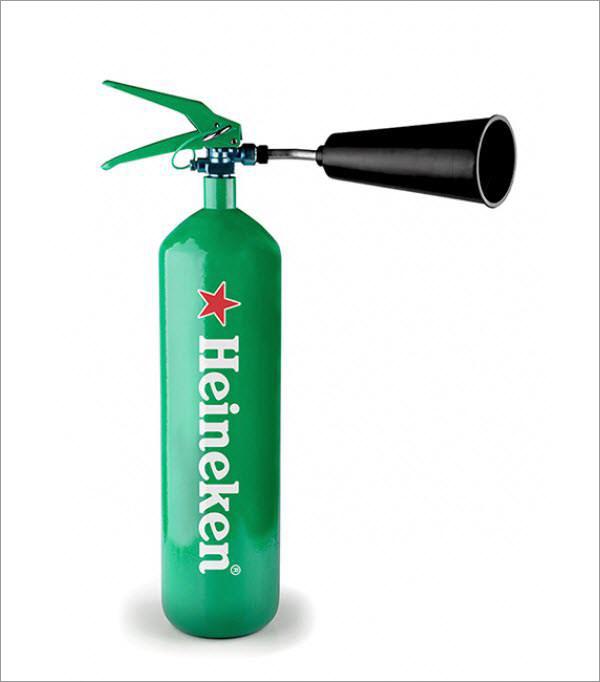 heineken fire extinguisher
