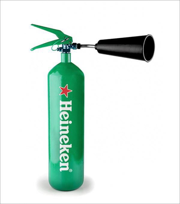heineken fire extinguisher