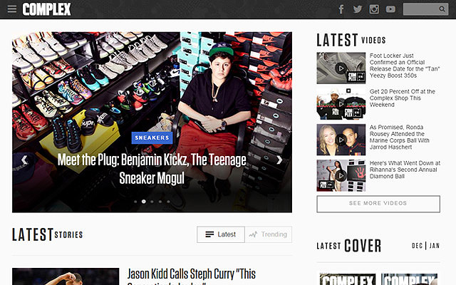 complex magazine featured posts