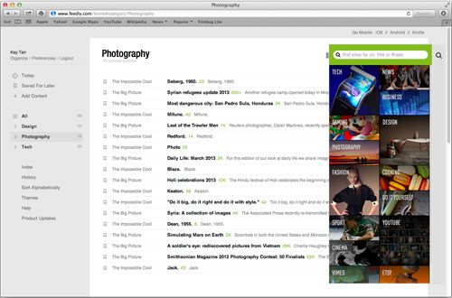 Feedly - expand the browser width