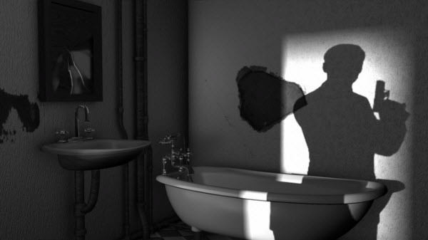 film noir bathroom