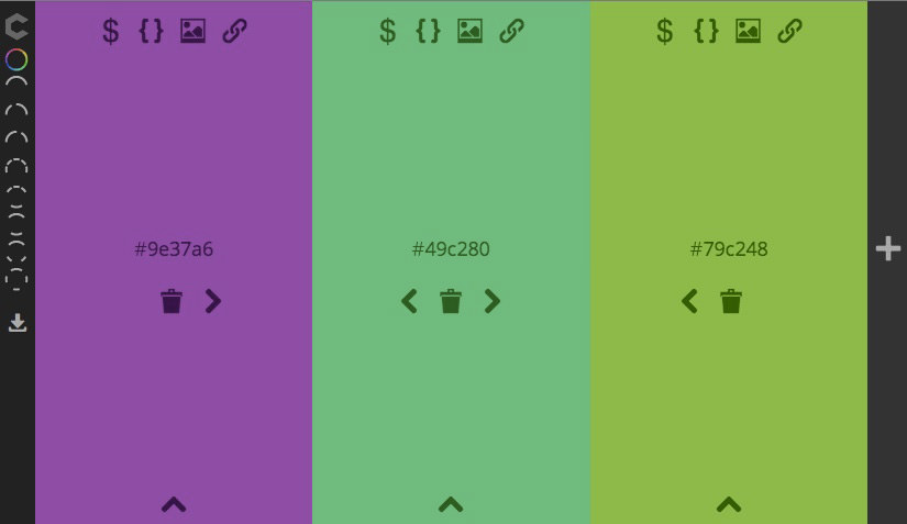 This is how you pick color swatches in free build mode. There are a few  other modes to pick color swatches from.