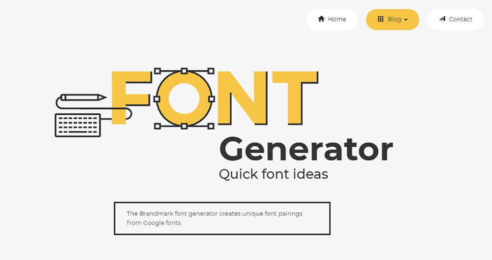 font generator brandmark