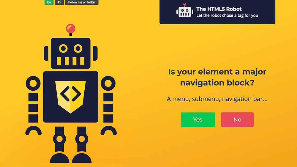 html5 robot code generator