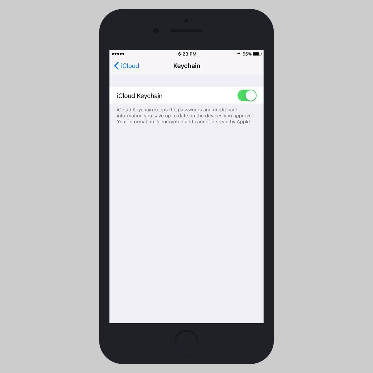 enable icloud keychain ios