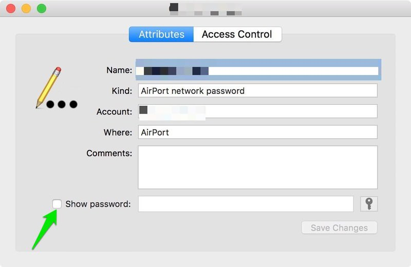 wifi passwords in mac