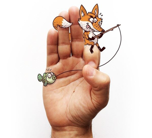fox and fish