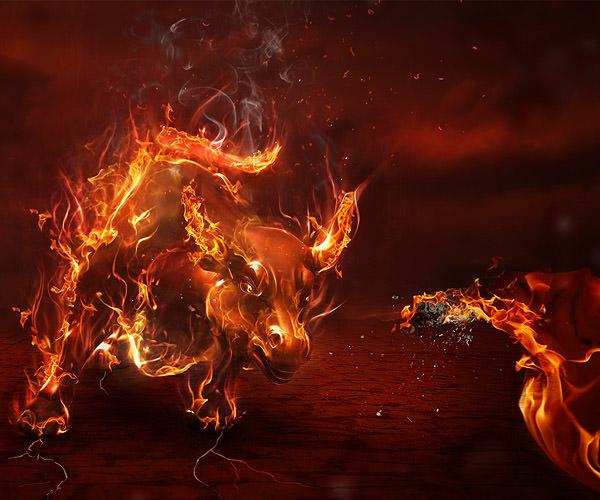 corrida in flames