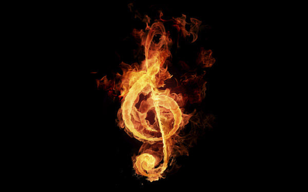 fiery music symbol