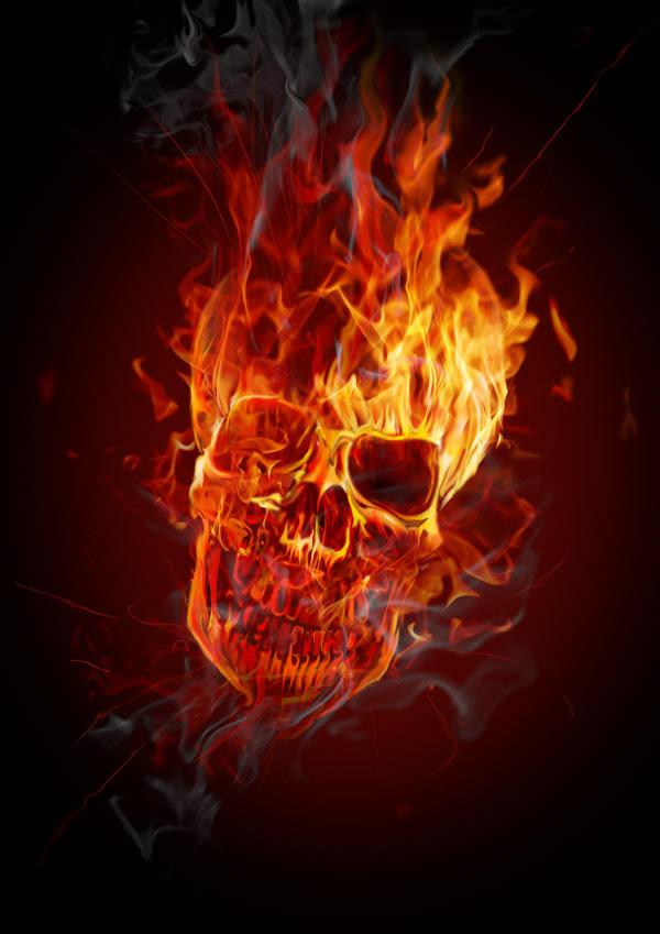 hellacious flaming skull