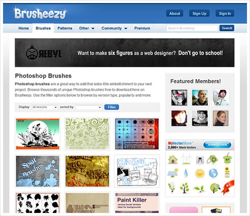 أفضل 12 مواقع لتحميل فرش فوتوشوب للرسم الإحترافي