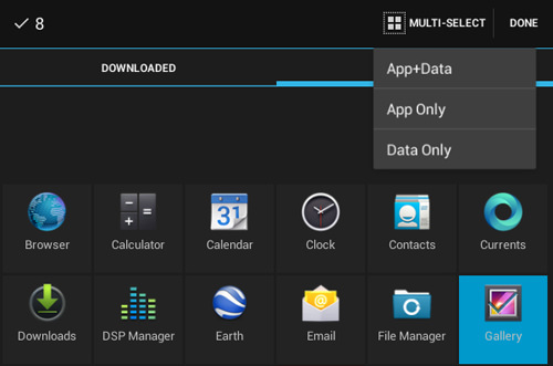 App Data and Data Only