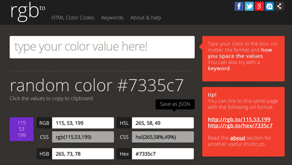 rgb color hex value converter flat design