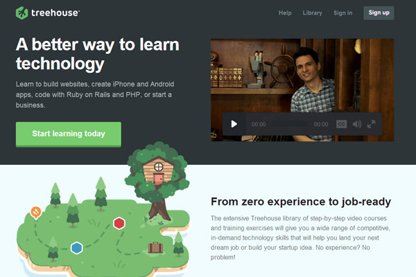 web design educational homepage flat interface design