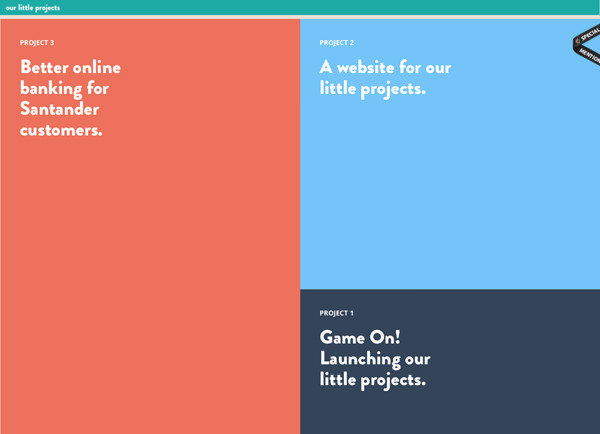 little projects homepage flat metro website layout