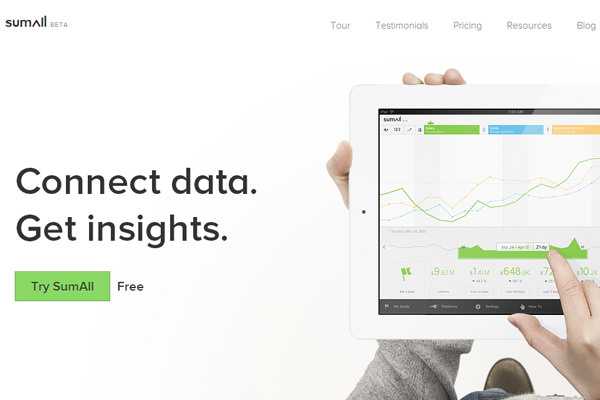 analytics for marketers sumall beta website startup