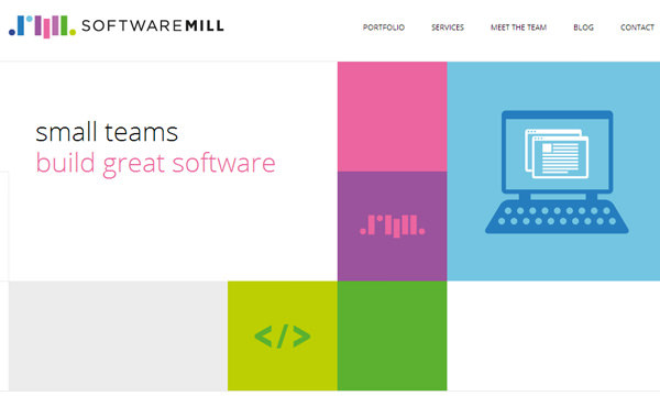 softwaremill development team flat website layout