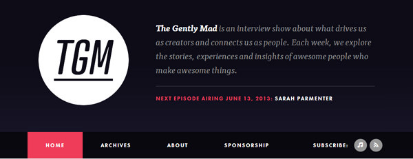 tgm gently mad podcast flat homepage website