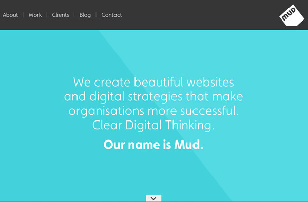 digital design agency we are mud homepage