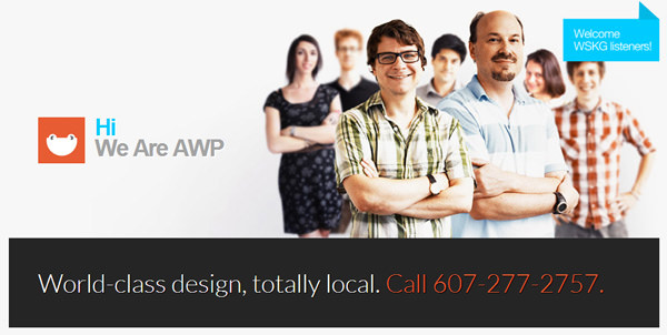 AWP ithaca new york design agency flat website