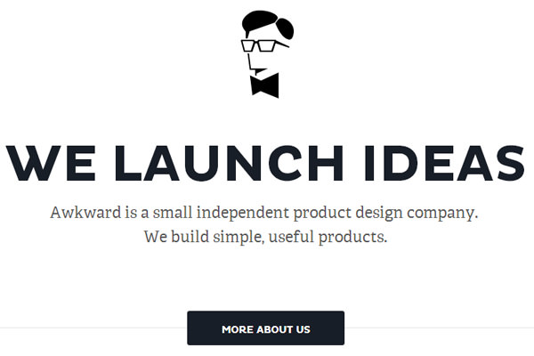 flat awkward design agency website layout