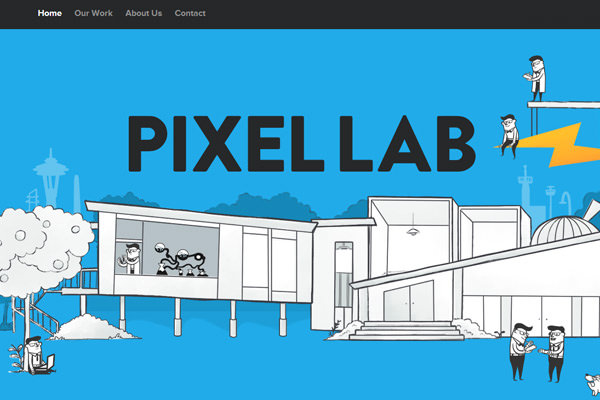 pixellab design agency flat website layout