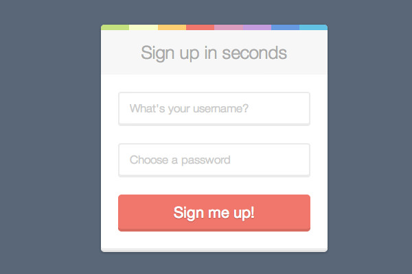 flat user interface signup login form ui