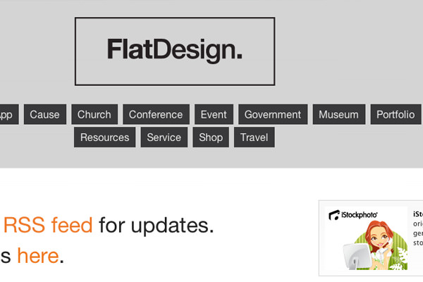 flatdesign interface css gallery website inspiration