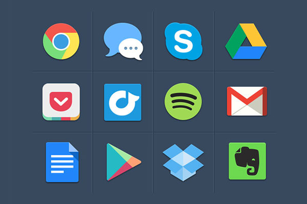 freebiesbug colorful flat iconset freebie psd