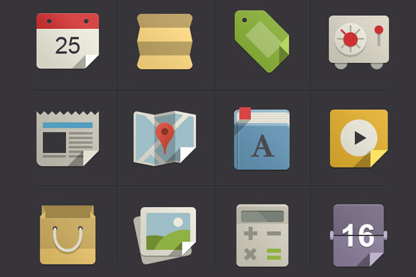 pixeden flat iconset freebie vol1 thru vol4