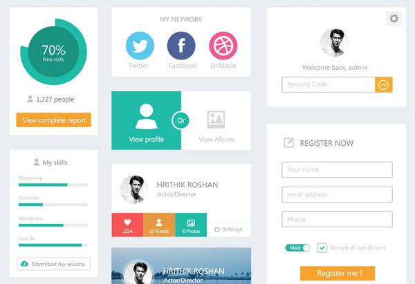 Ultimate Guide to Flat Website Design - Hongkiat