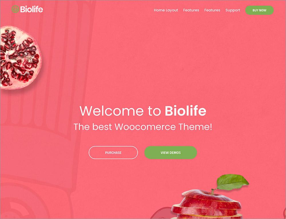 Biolife wordpress theme