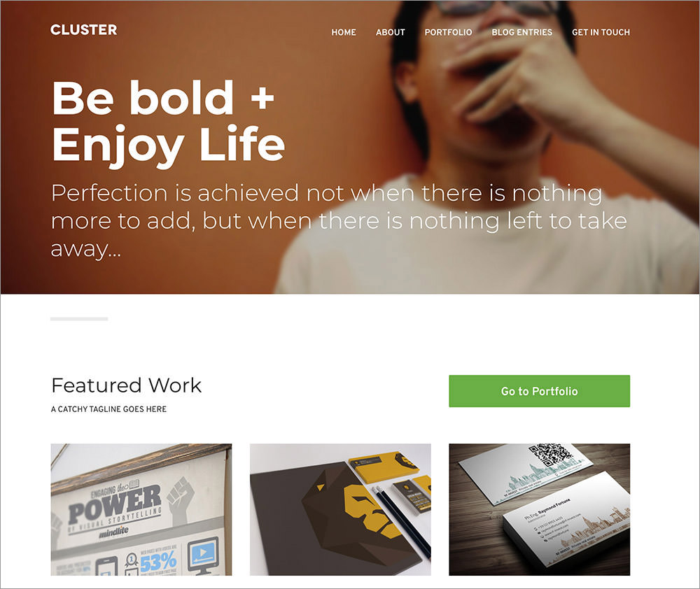 Cluster wordpress theme