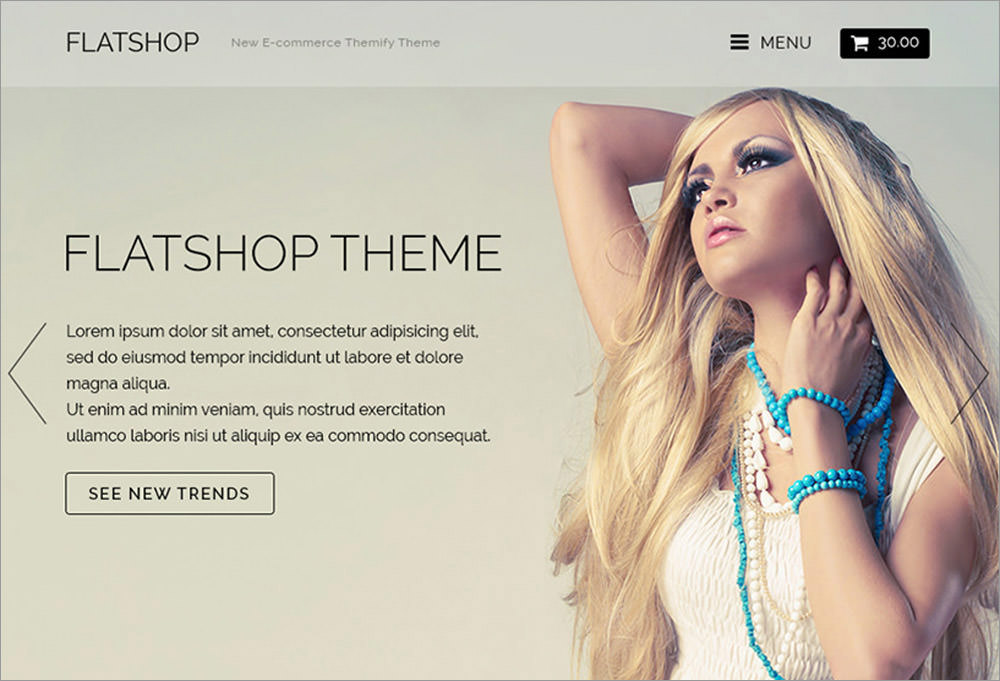 Flatshop wordpress theme