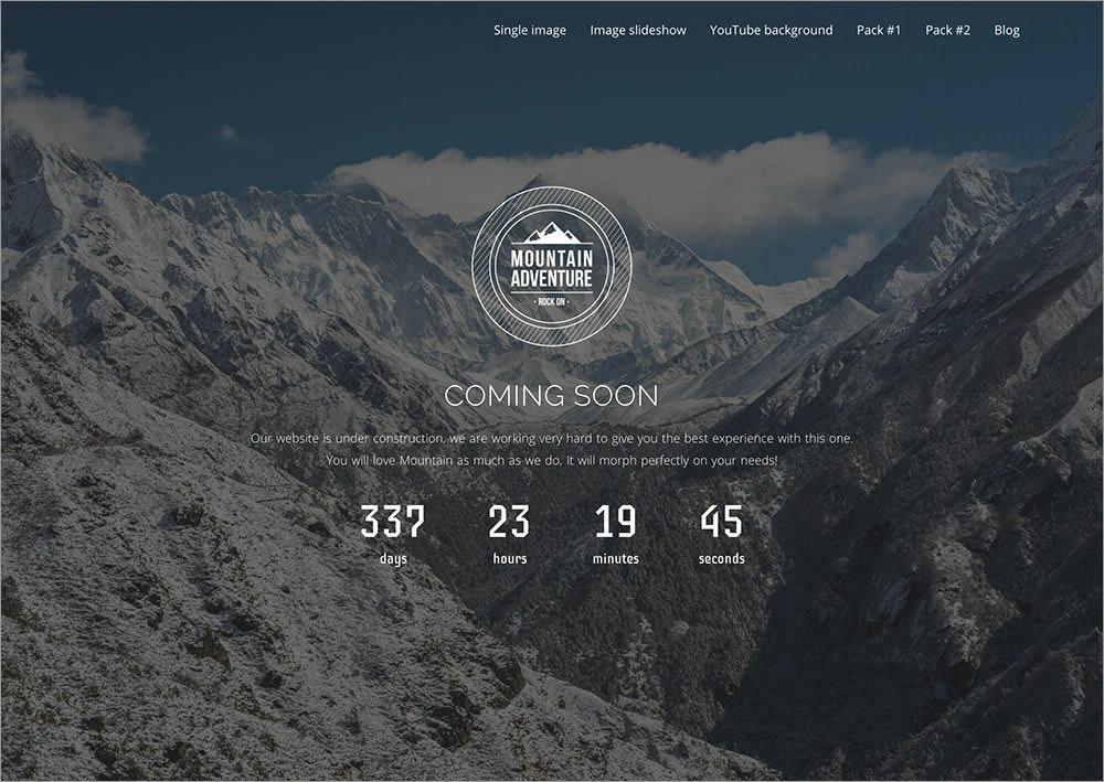Mountain wordpress theme