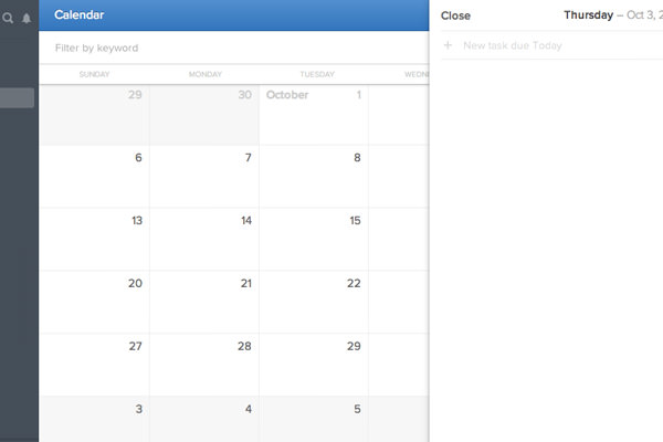 flowapp calendar view ui add new task
