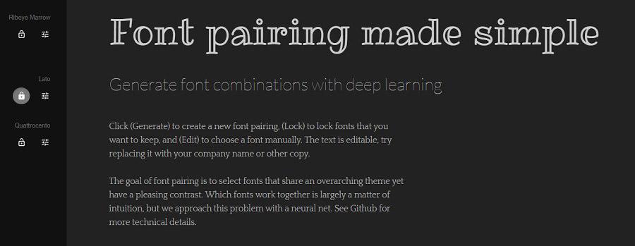 lock font