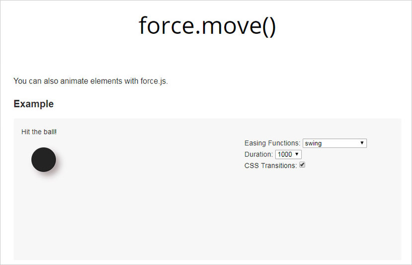 Force.js example animation library