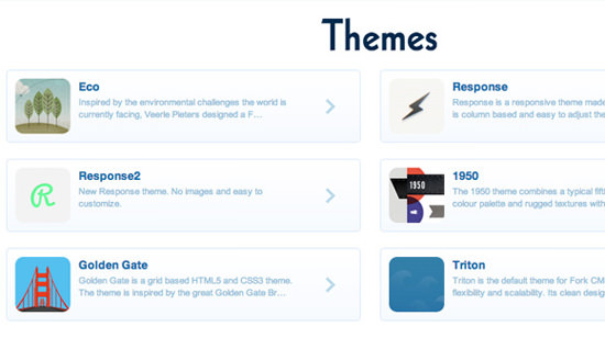 Custom Fork CMS themes templates