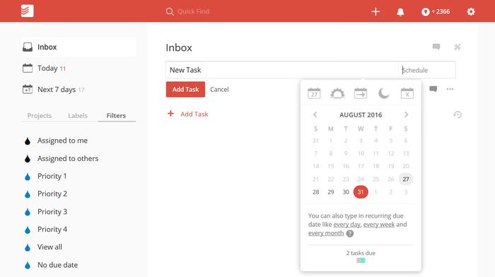 Todoist Date Picker
