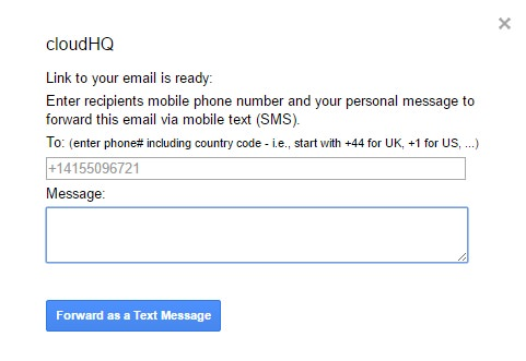 your email to sms