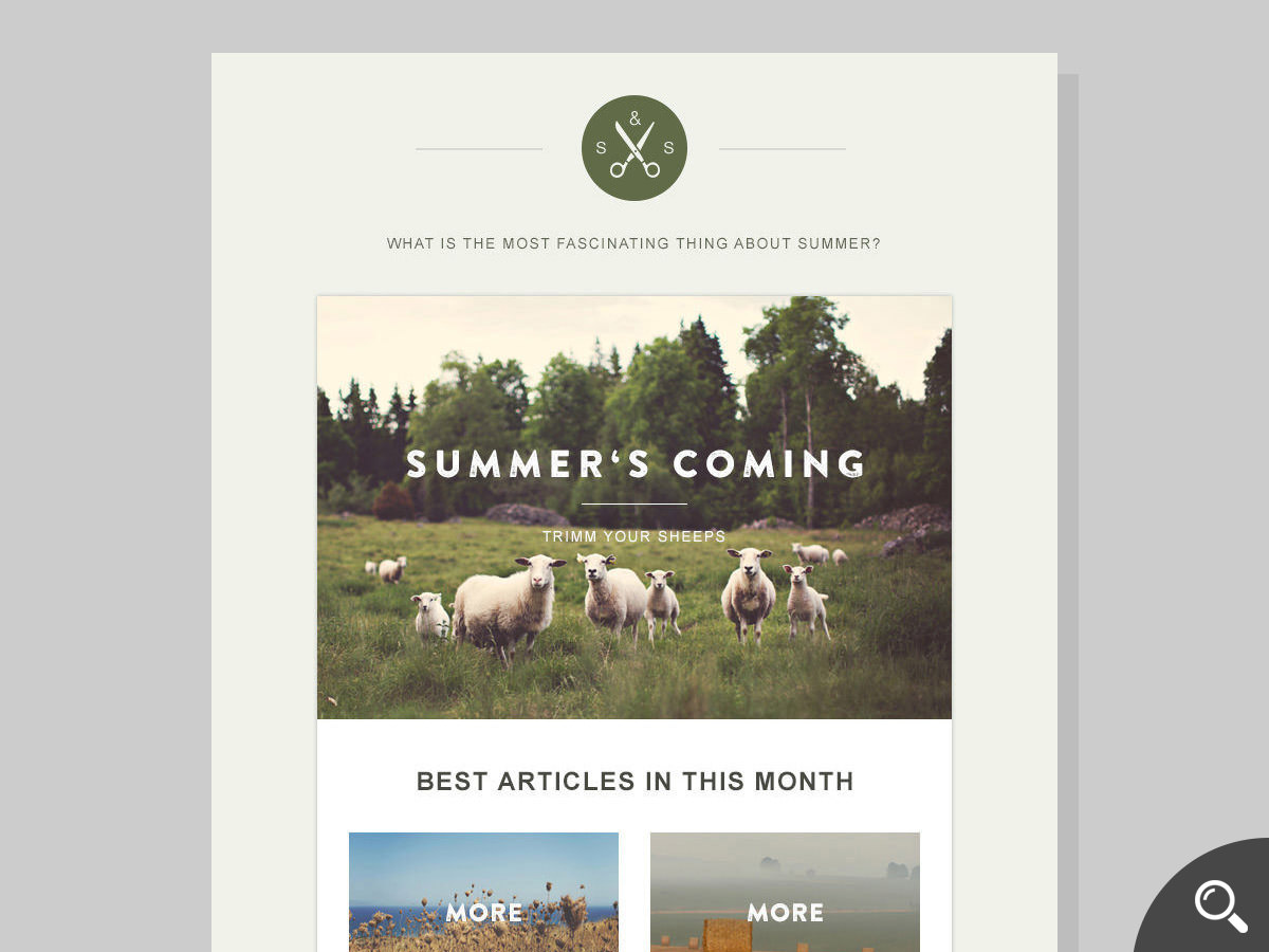 green-village newsletter template
