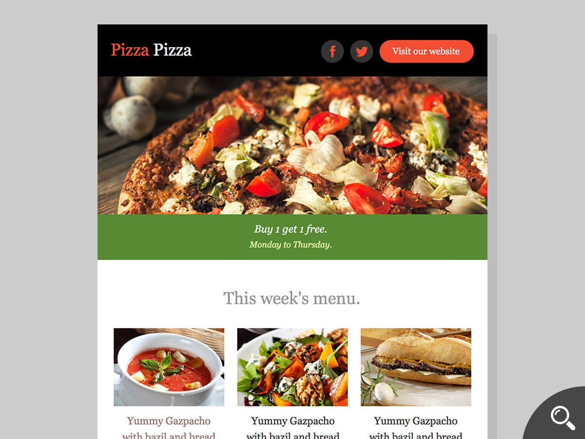 pizza newsletter template