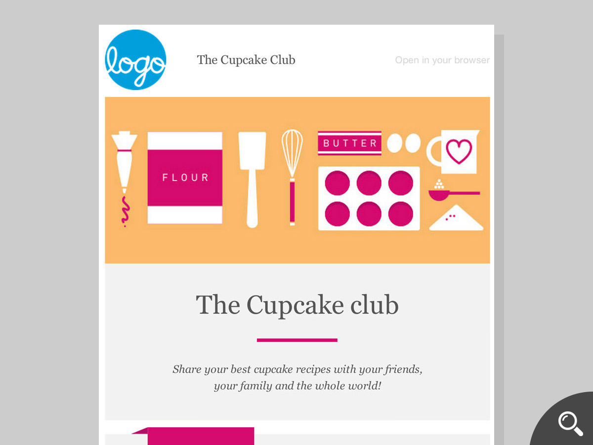 cupcake newsletter template