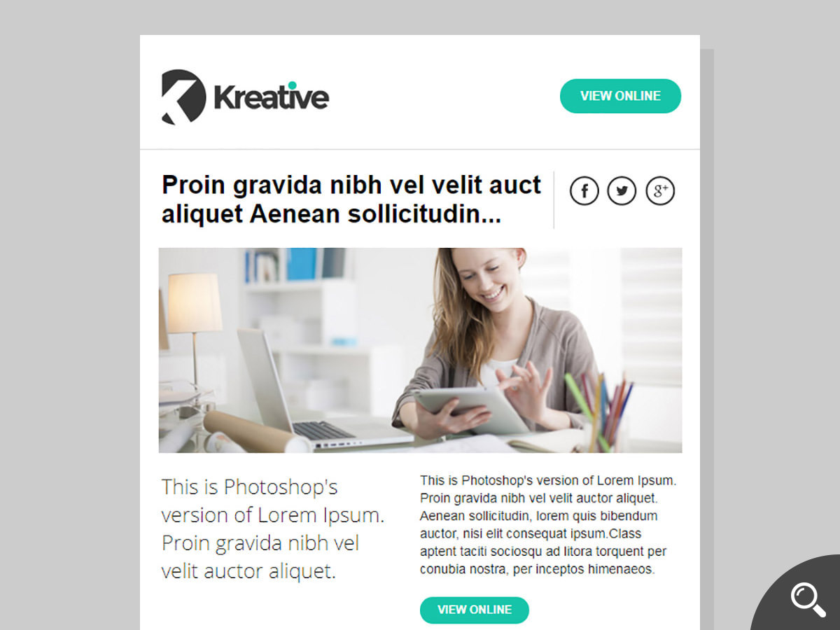 kreative newsletter template