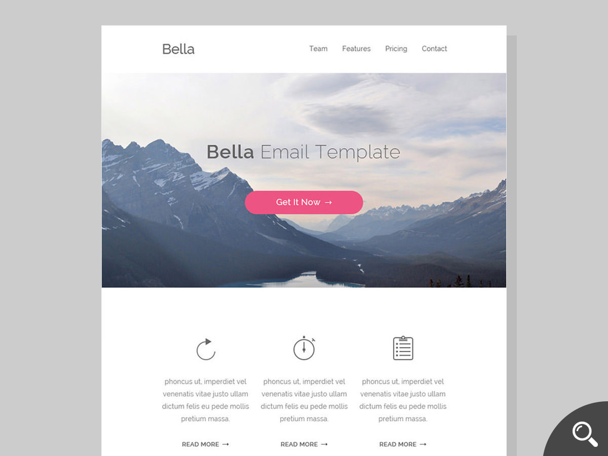 bella newsletter template