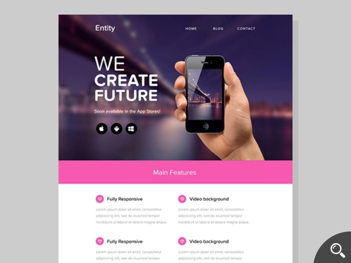 entity newsletter template