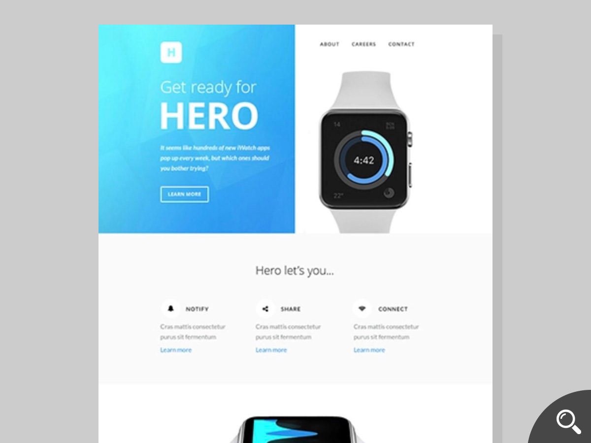 hero newsletter template