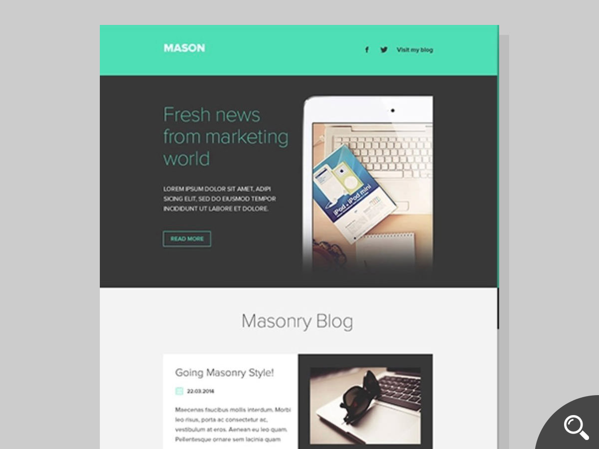 mason newsletter template