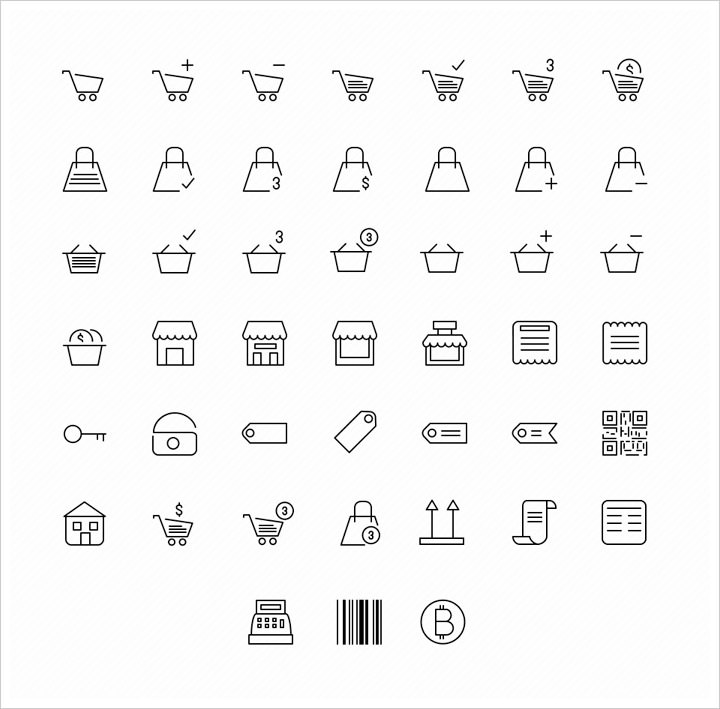 20 free e commerce icon sets to download hongkiat 45 e commerce icons by icons mind available in eps g d g download altavistaventures Images